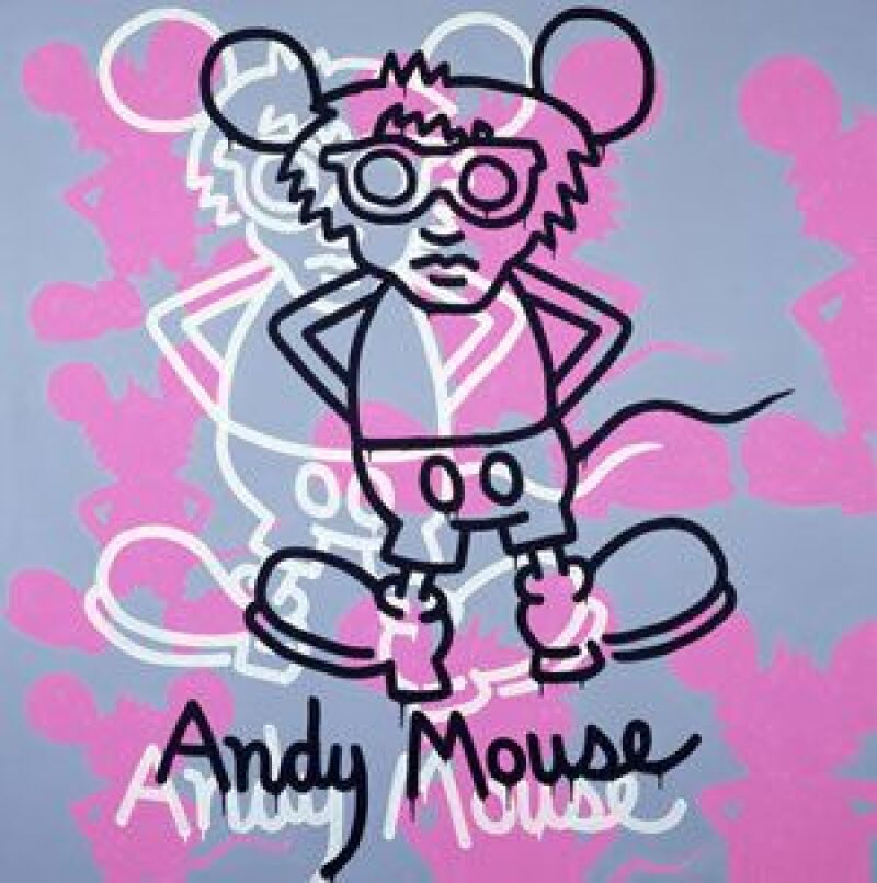 Keith Haring, Andy Mouse, 1985