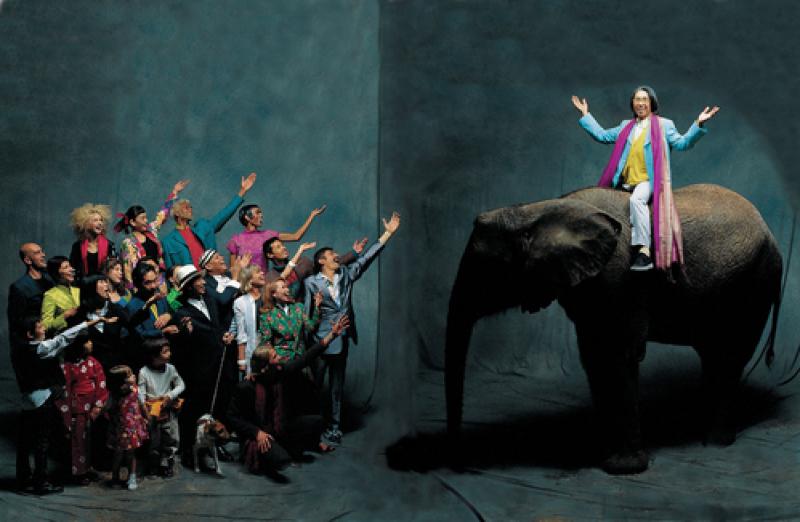 Kenzo éléphant, Paris, 1992