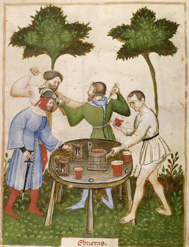L'ébriété. Ibn Butlan, Tacuinum sanitatis, vers 1395, Paris, ©BnF