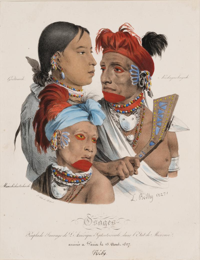 Louis Boilly 1827 Lithographie faisant partie d'une collection de 65 ouvrages sur les Indiens d_AmÇrique du Nord. LIBRAIRIE CHAMONAL