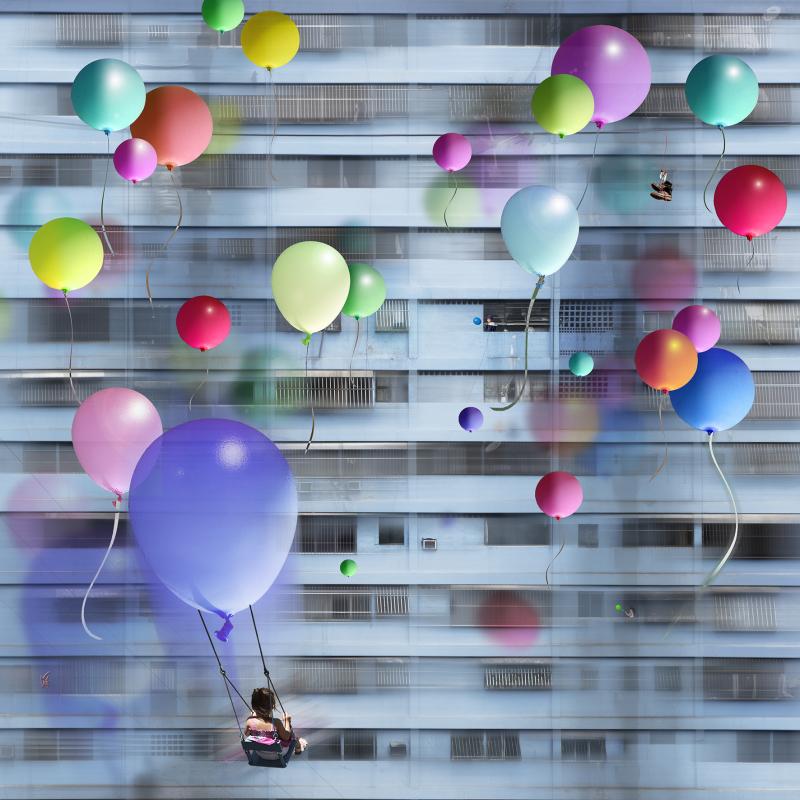 MAÏLO, Envolee de ballons