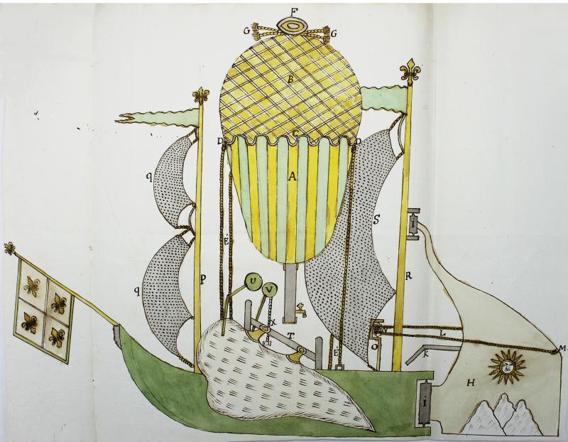 Marches Mémoire pour la direction du globe volant 1783-1734 Hugues de Latude