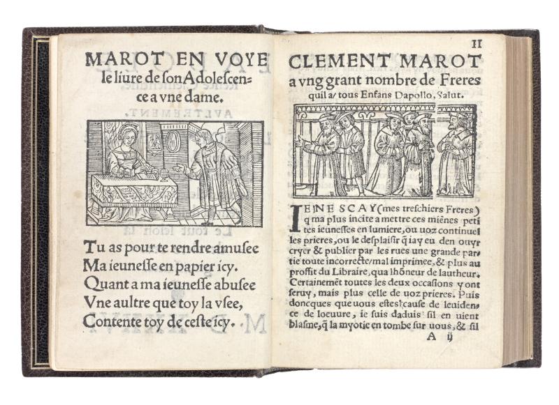 Marot, Clément. L'adolescence Clémentine. 1536 LIBRAIRIE-LAURENT-COULET