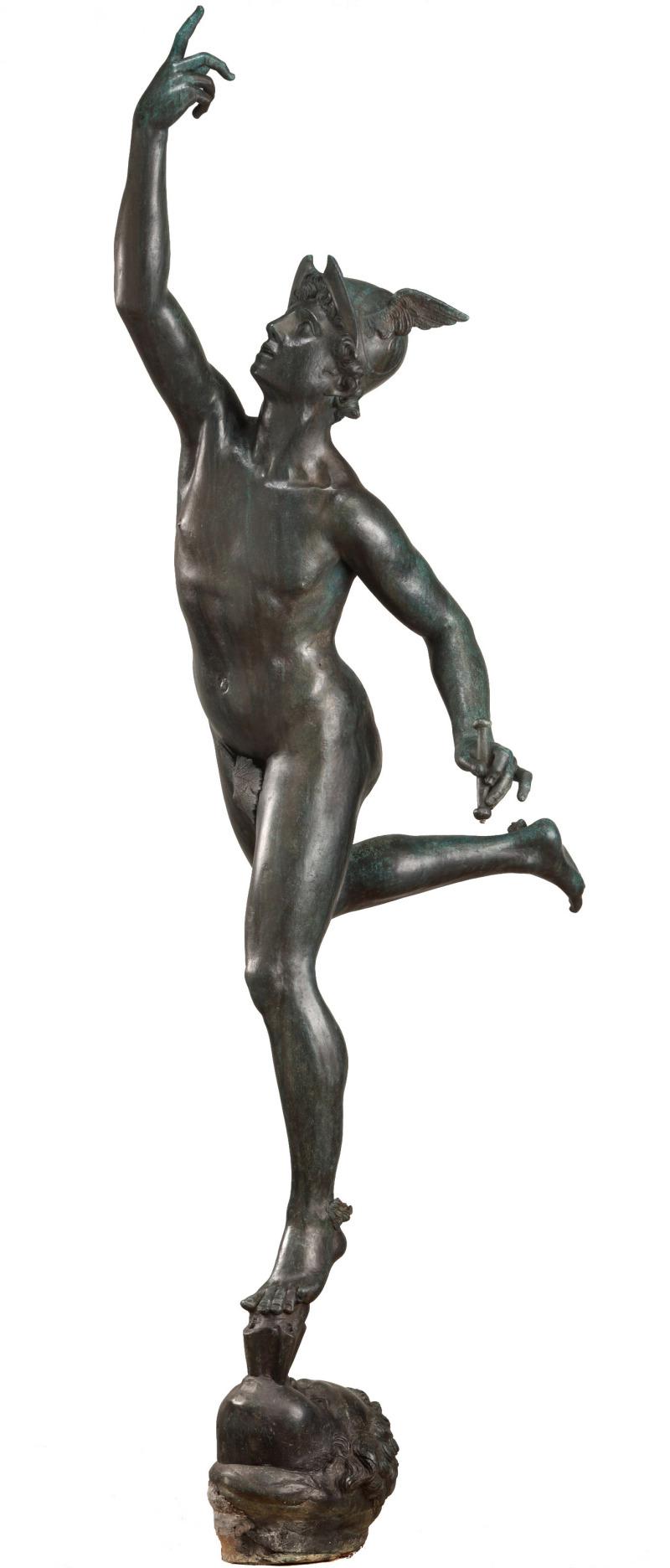 Mercure volant, 1623, d'après un modèle de Jean de Bologne. Bronze, fonte de Bernard Py. Musée des Augustins, Toulouse