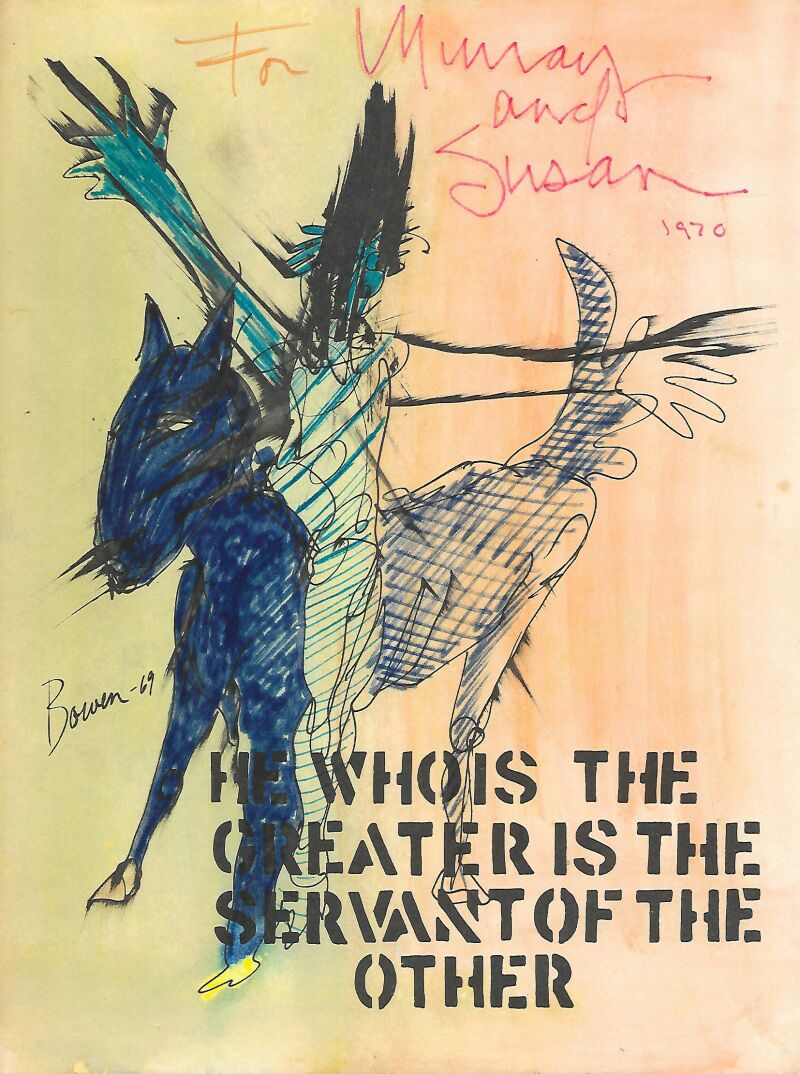 Michael Bowen a Journey to nepal, He who is the Greater is the servant of the Other 1970 Librairie les Autodidactes