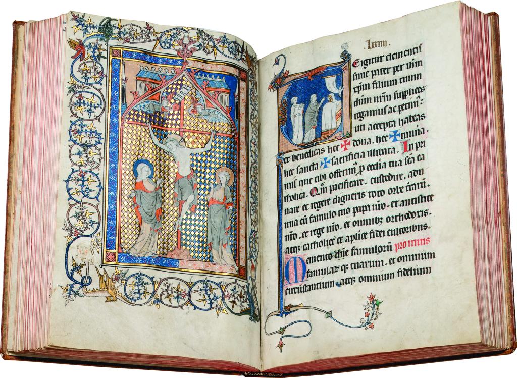 Missel annoté, The Soissons Missal, manuscrit enluminé sur parchemin XIIIe siècle Galerie les Enluminures
