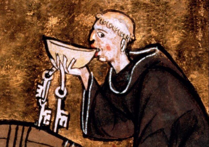 Moine caviste, Aldebrandin de Sienne, Le livre de Santé, vers 1285, Londres, British Library, Ms Sloane 2435, folio 44 verso