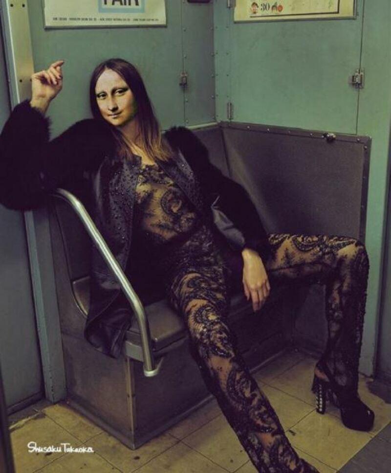 Mona Lisa dans le métro