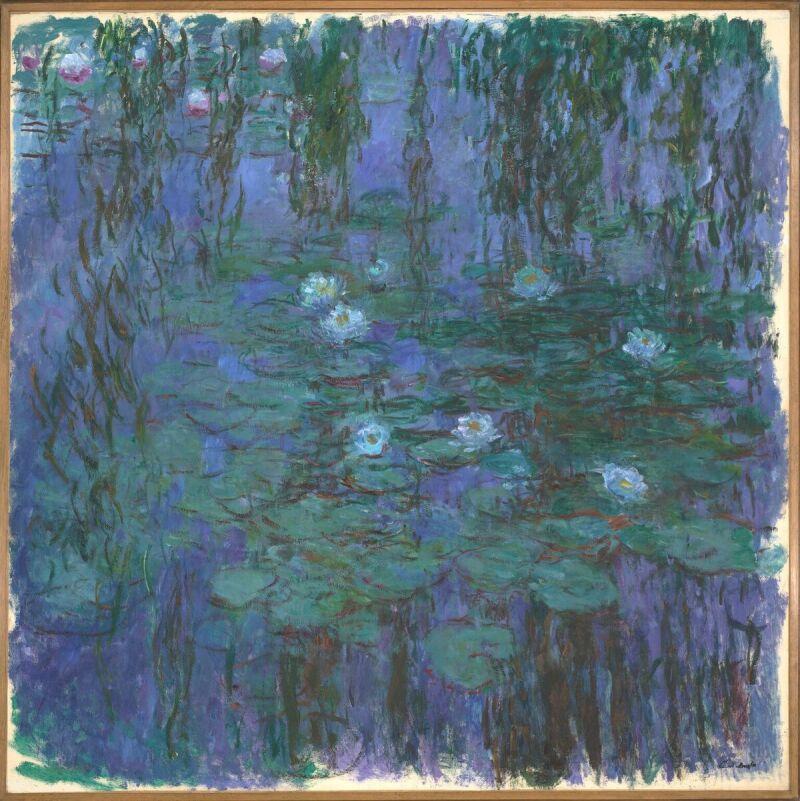 Claude Monet, Nymphéas bleus, 1916-1919 (c) Musée d'Orsay