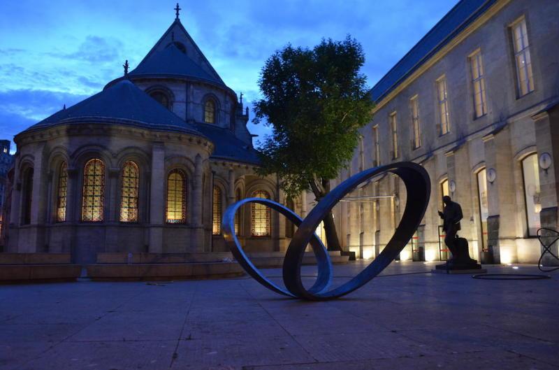 Vue de nuit, Musée des Arts et des Métiers  (c) Musée des Arts et des Métiers, Paris