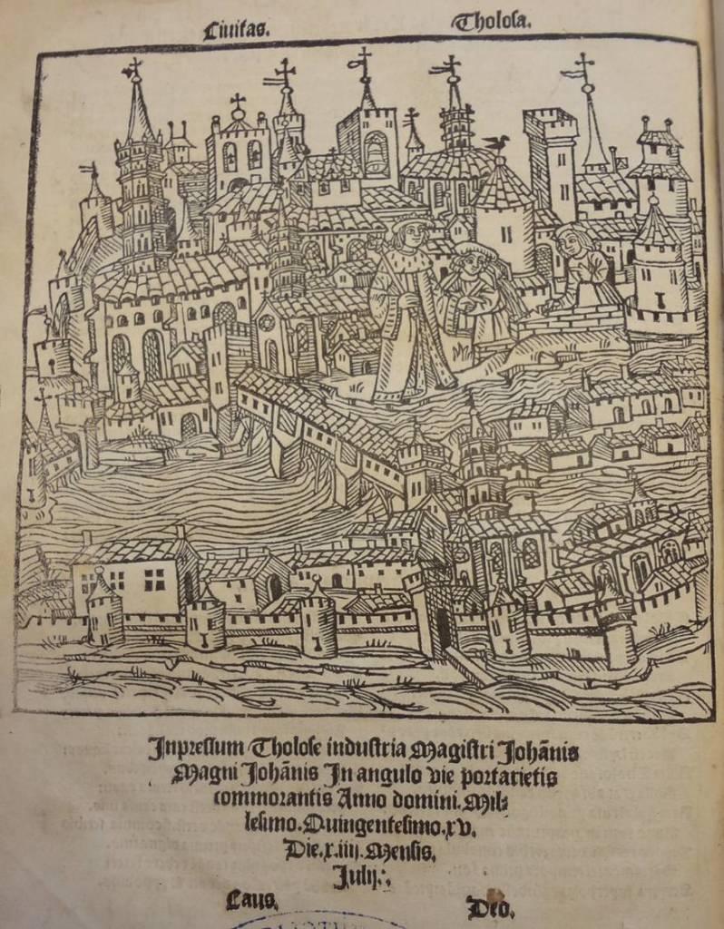 Opus Tholosanorum, Nicolas Bertrand, 1515, bibliothèque d'Etude et du Patrimoine, Toulouse