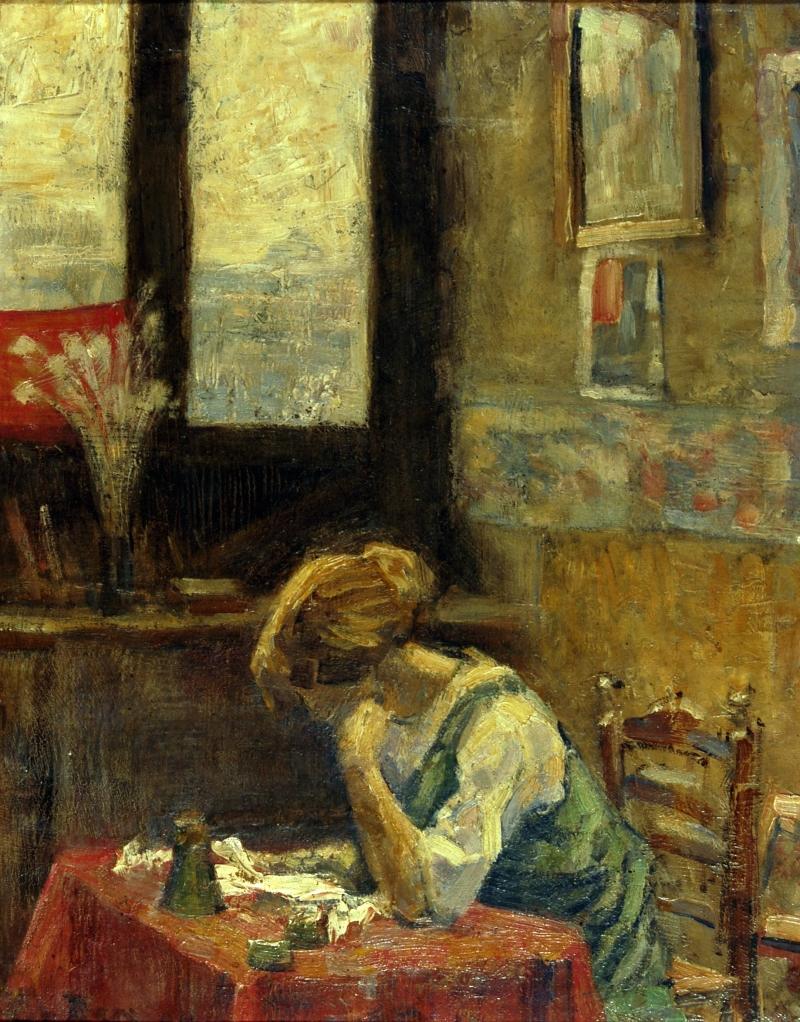 Otto Van Rees, Adya dans le Bateau Lavoir, 1904