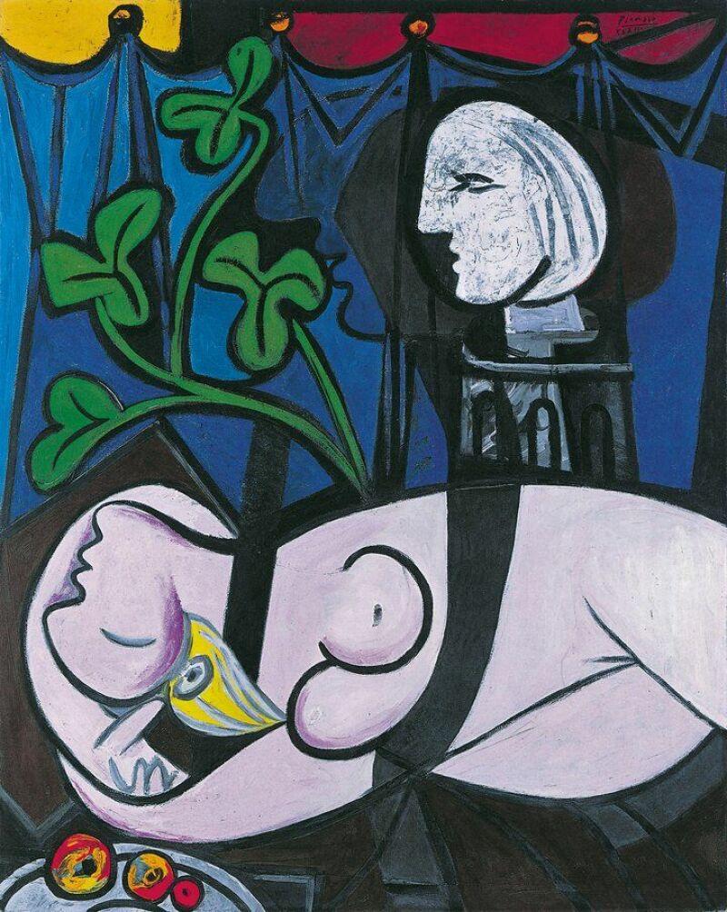 Pablo Picasso, Femme nue, feuilles et buste, 1932