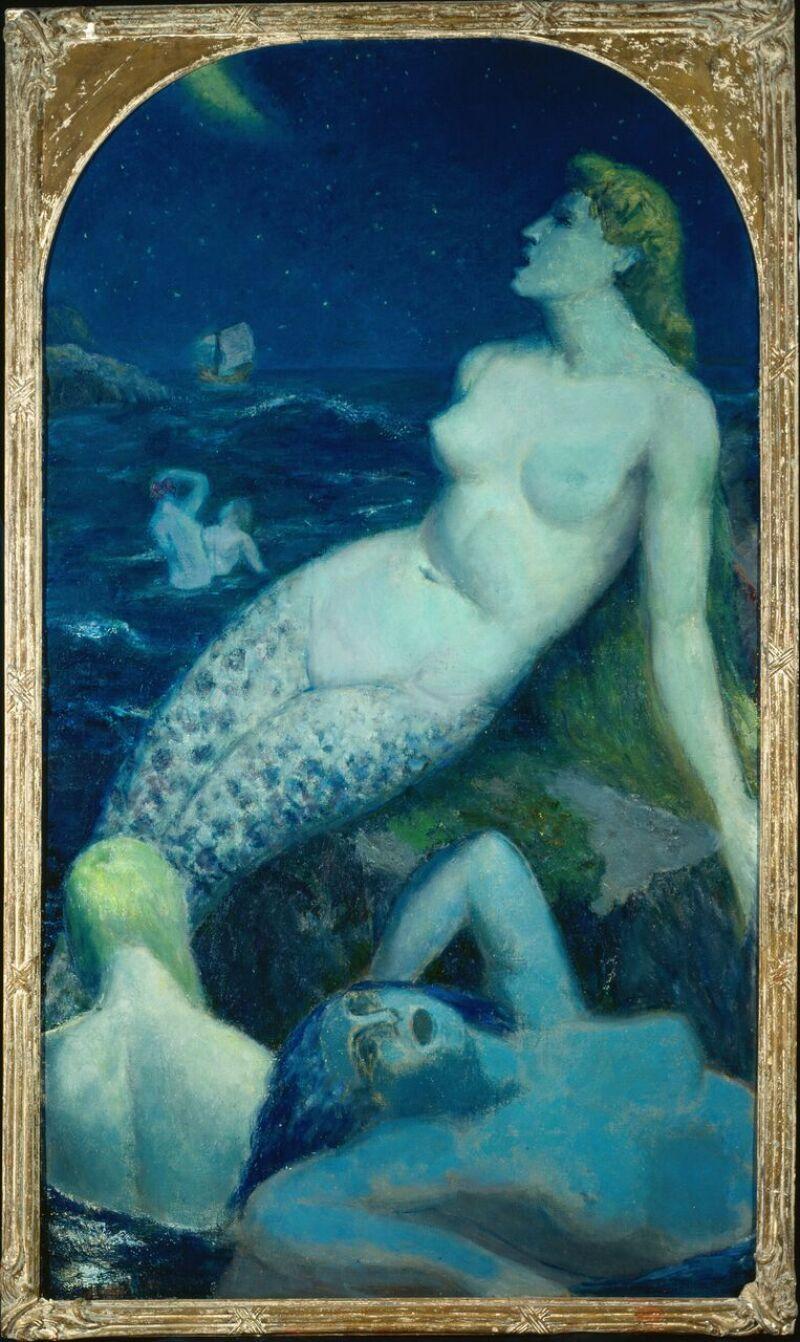 Paul-Alex DESCHMACKER, La Grande Sirène bleue, Vers1937 © Musée La Piscine, Dist. RMN-Grand Palais - Arnaud Loubry