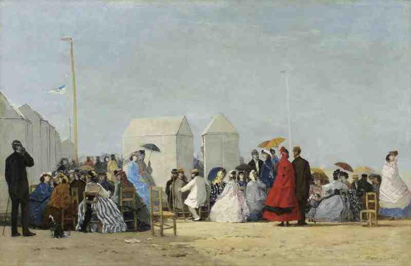 Eugène Boudin, Plage aux environs de Trouville, 1864 (c) Musée des Beaux-arts de l'Ontario, Toronto. Tous droits réservés.