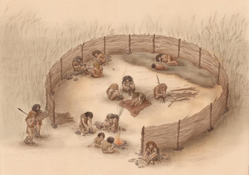 Reconstitution de la vie quotidienne d'un groupe néandertalien à partir des fouilles du site de «La «Folie»