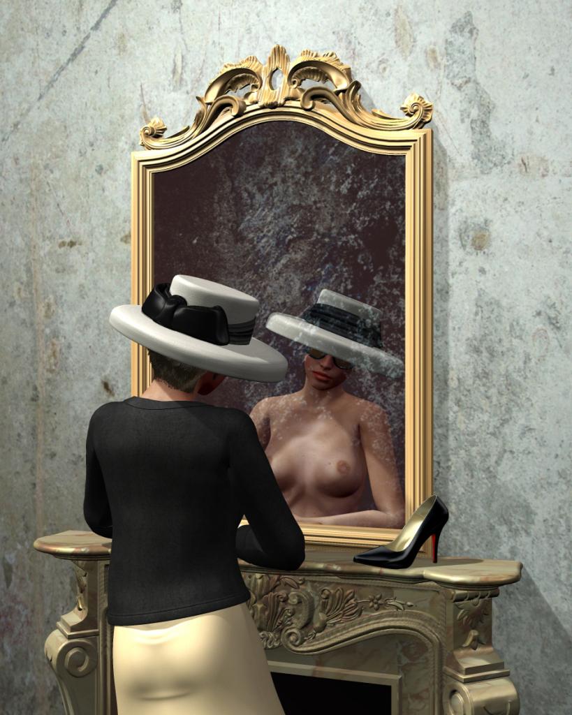 Réflexion intime, hologramme, Dominique Mulhem