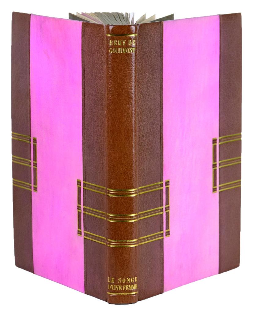 reliure art déco de Rose Adler. 1925 pour le songe d'une femme, ouvrage de Remy de Gourmont illustré par laboureur LIBRAIRIE DES CARRES