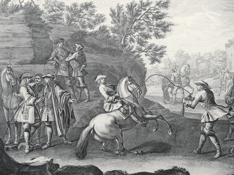 Ridinger, Johann Elias. L'art de monter à cheval en tailles douces 1722 LIBRAIRIE PHILIPPICA