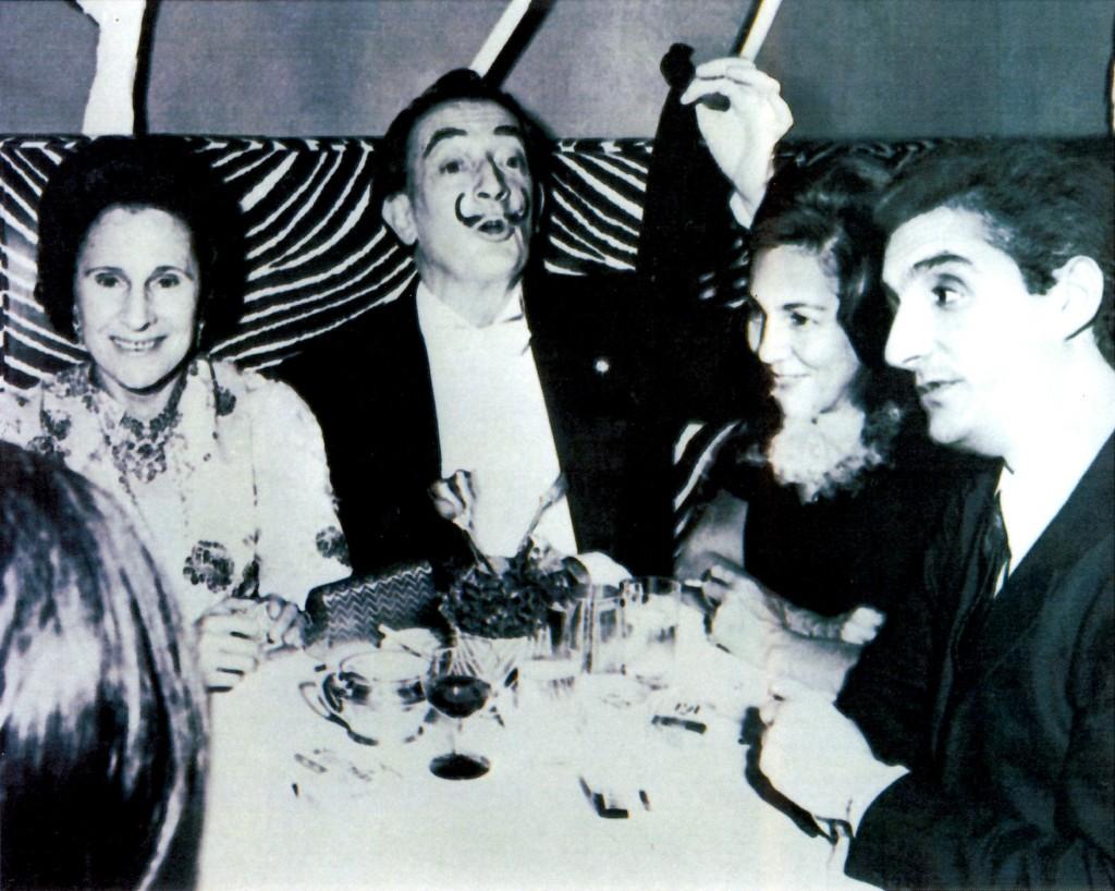 Salvador Dalí, Gala & Beniamino Levi, dans les années 70.