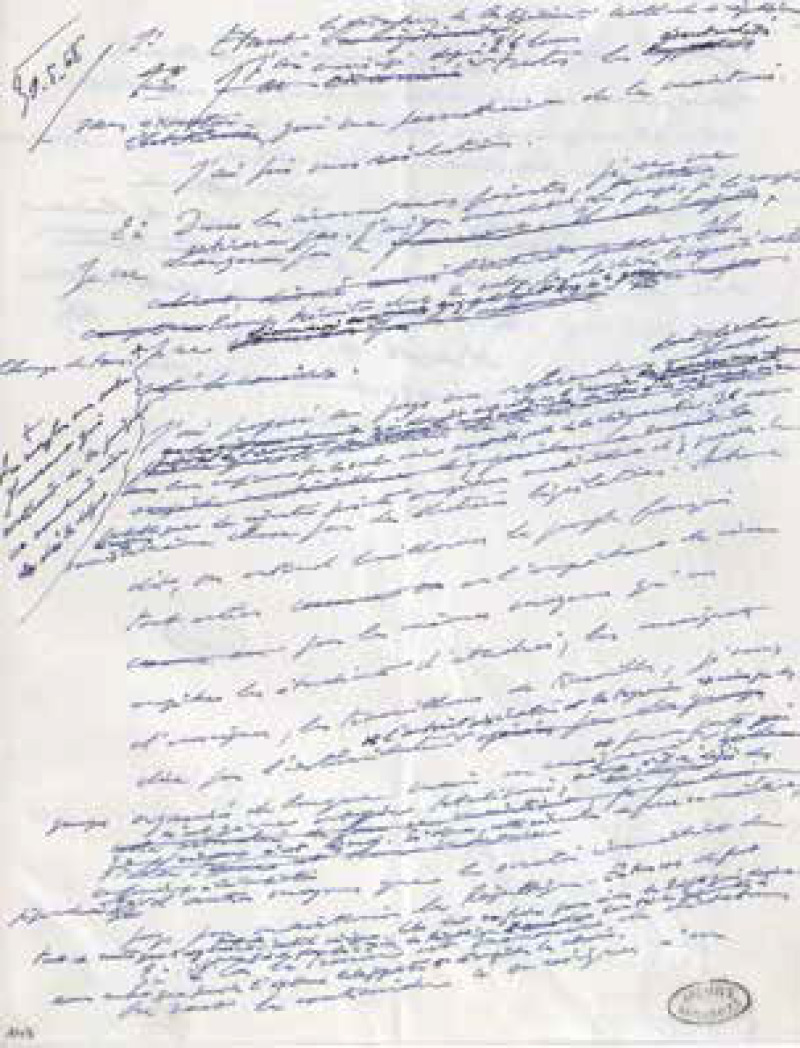 Discours manuscrit de l'allocution radiodiffusée du général de Gaulle du 30 mai.
