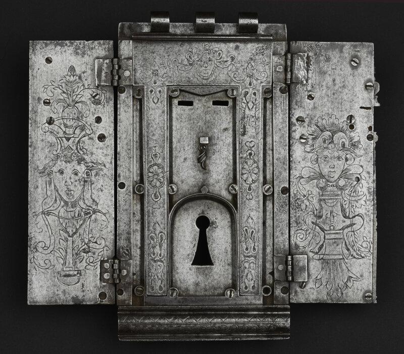 Serrure de coffre, travail francais d'époque Renaissance Olivier Becker expert en Haute Epoque et objets de curiosités
