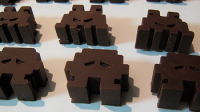 space invaders chocolat
