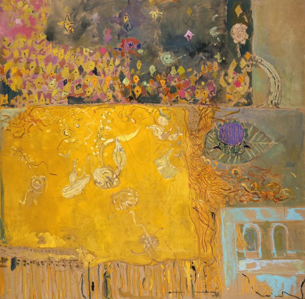 Table châle jaune