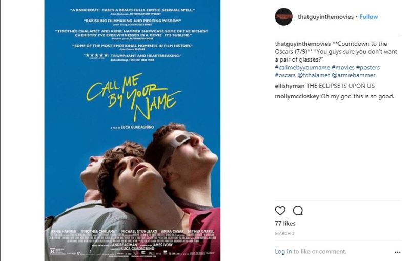 That guy in the movie - call me by your name