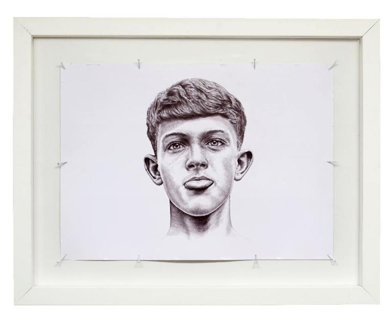 THE KID -Timmy- 2014 - 70 x 49 - stylo BIC(r) noir sur papier- (c)Charly Gosp- Courtesy l artiste et Collection BIC