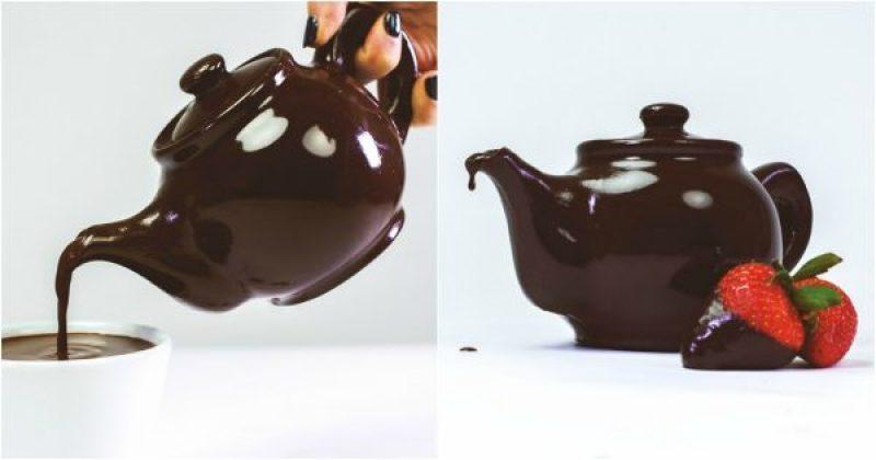Théière en chocolat