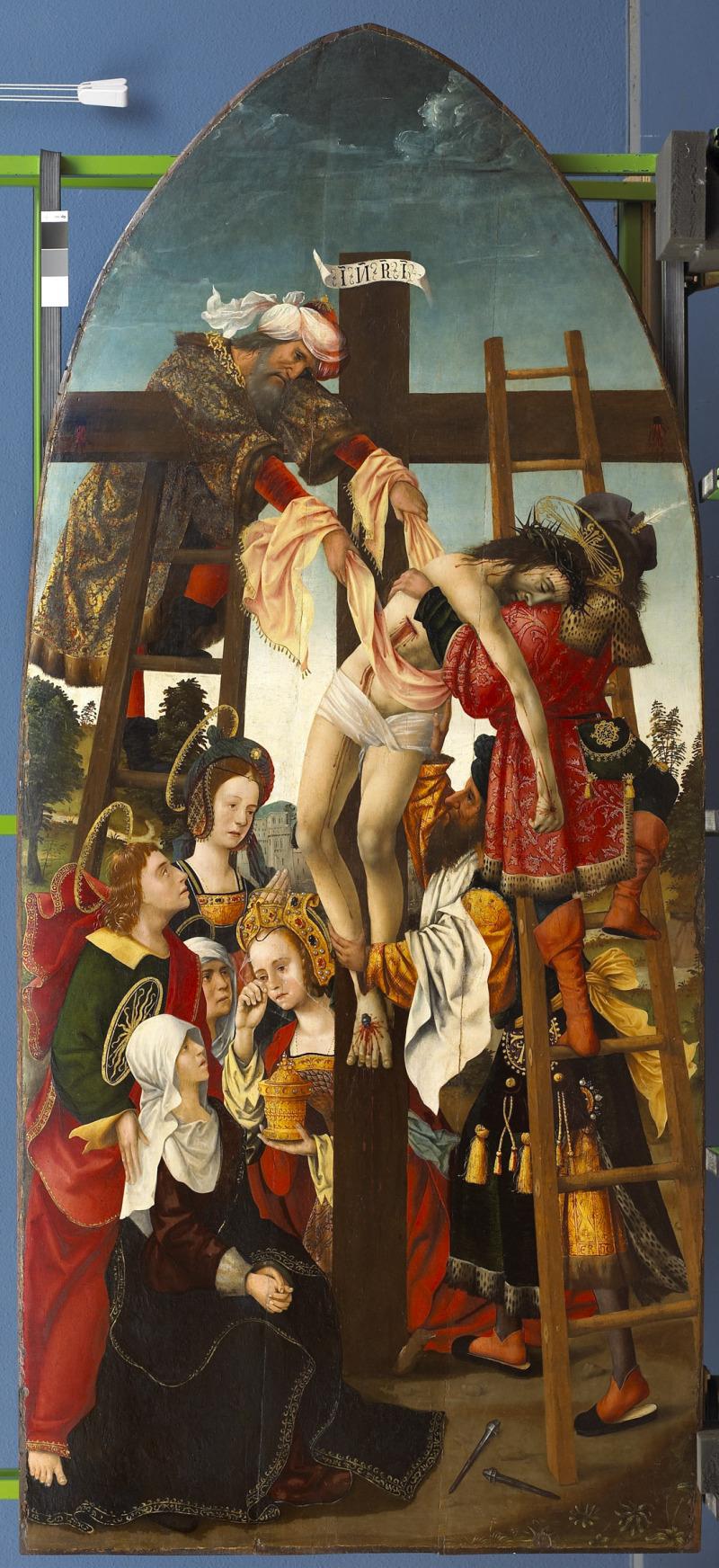 Une cité riche et puissante - Descente de crois. Anonyme néerlandais, vers 1510, musée des Augustins, Toulouse