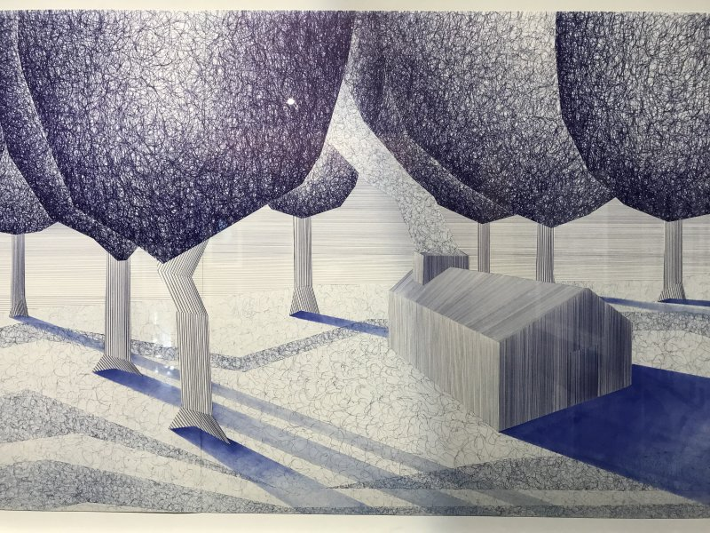 Vue de l'exposition La Collection Bic - Cenquatre Paris (42)
