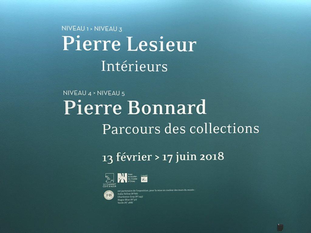 Vue de l'exposition Pierre Lesieur - Intérieurs - Musée Bonnard, Le Cannet (22)