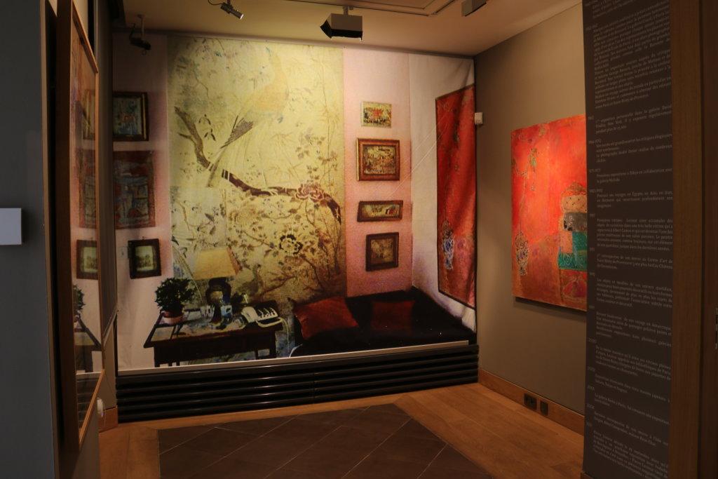 Vue de l'exposition Pierre Lesieur - Intérieurs - Musée Bonnard, Le Cannet (25)
