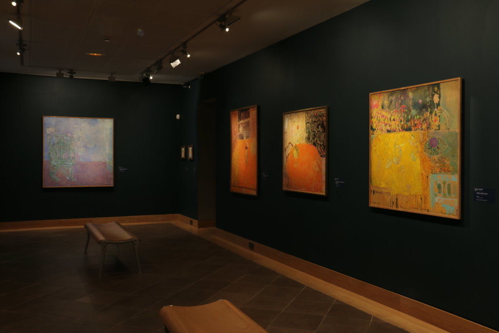 Vue de l'exposition Pierre Lesieur - Intérieurs - Musée Bonnard, Le Cannet (28)