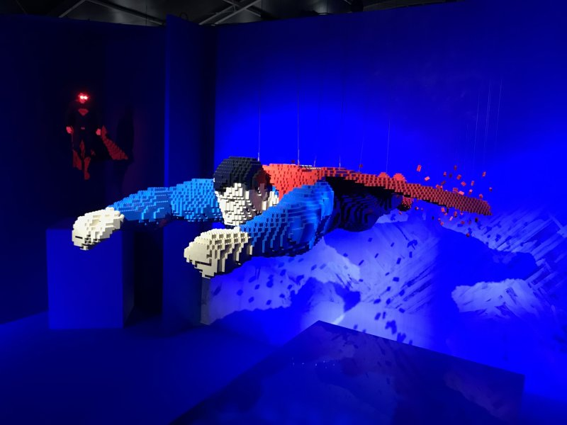 Vue de l'exposition The Art of the Brick, les super-héros DC en Lego - La Villette (28)
