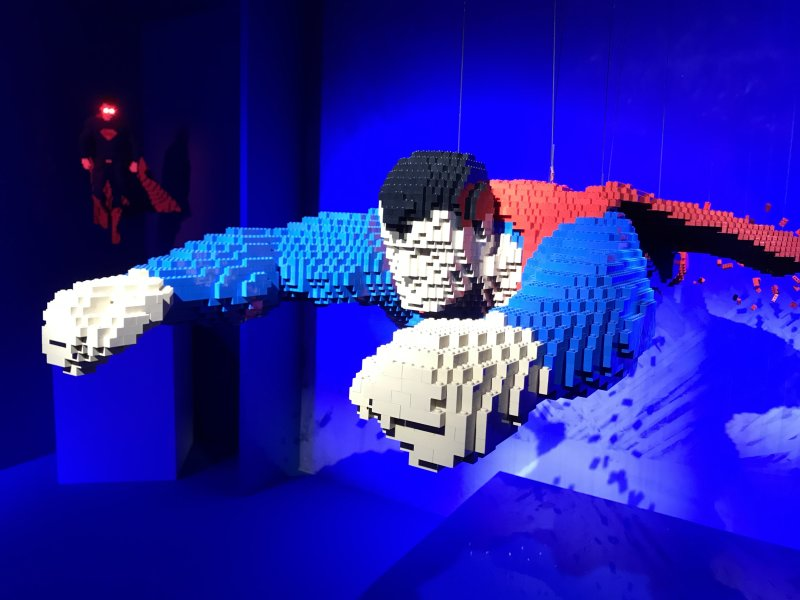 Vue de l'exposition The Art of the Brick, les super-héros DC en Lego - La Villette (29)
