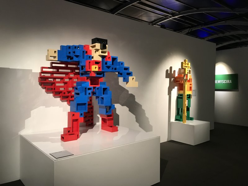 Vue de l'exposition The Art of the Brick, les super-héros DC en Lego - La Villette (31)