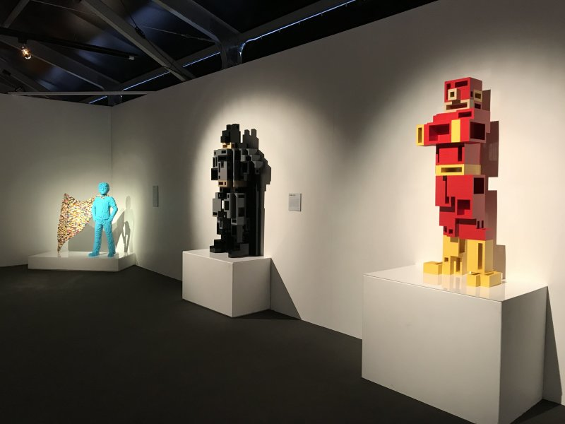 Vue de l'exposition The Art of the Brick, les super-héros DC en Lego - La Villette (32)