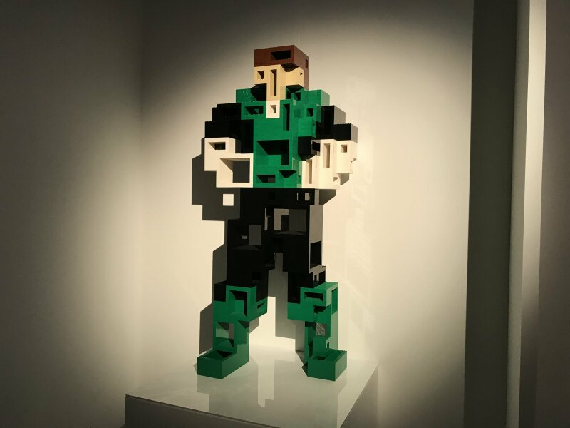 Vue de l'exposition The Art of the Brick, les super-héros DC en Lego - La Villette (33)