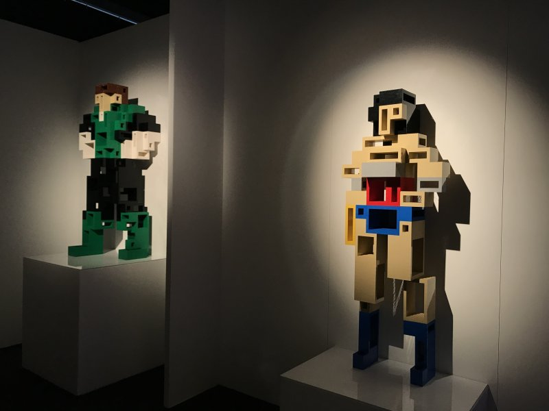 Vue de l'exposition The Art of the Brick, les super-héros DC en Lego - La Villette