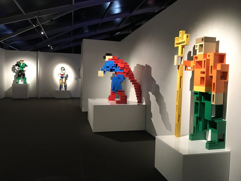 Vue de l'exposition The Art of the Brick, les super-héros DC en Lego - La Villette (35)