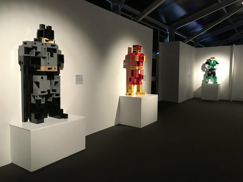 Vue de l'exposition The Art of the Brick, les super-héros DC en Lego - La Villette (36)