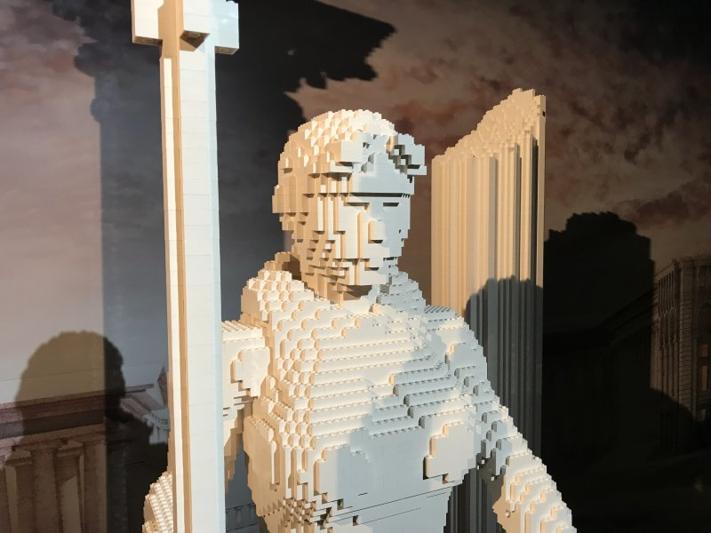 Vue de l'exposition The Art of the Brick, les super-héros DC en Lego - La Villette (38)
