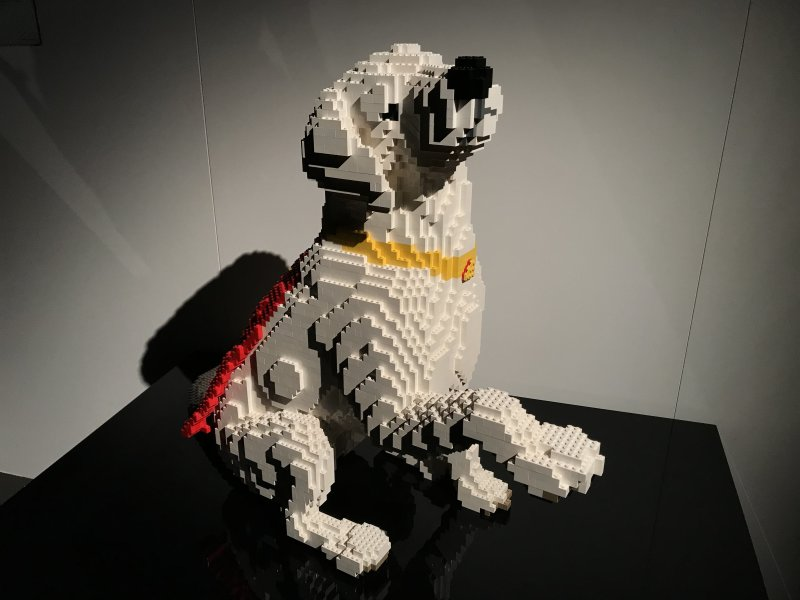 Vue de l'exposition The Art of the Brick, les super-héros DC en Lego - La Villette (43)