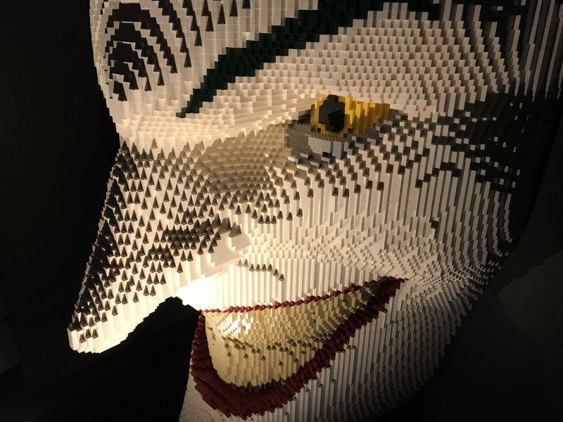 Vue de l'exposition The Art of the Brick, les super-héros DC en Lego - La Villette (50)