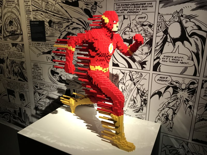 Vue de l'exposition The Art of the Brick, les super-héros DC en Lego - La Villette (6)