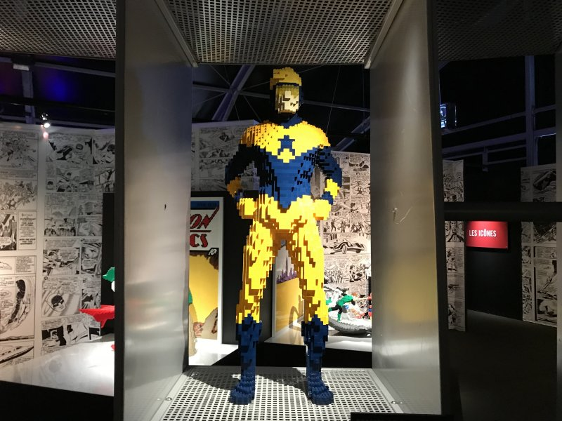 Vue de l'exposition The Art of the Brick, les super-héros DC en Lego - La Villette (68)