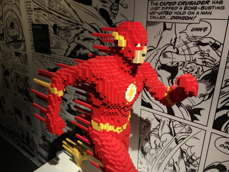 Vue de l'exposition The Art of the Brick, les super-héros DC en Lego - La Villette (7)